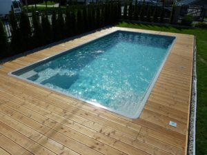 Štart montáže bazéna